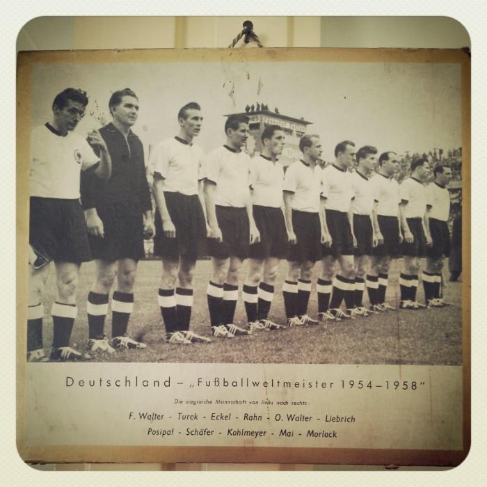 Fritz Walter - Toni Turek - Eckel - Rahn - Walter - Liebrich - Posipat - Schäfer - Kohlmeyer - Mai - Morlock