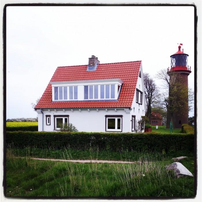 Der Leuchtturm Flügge auf der Insel Fehmarn