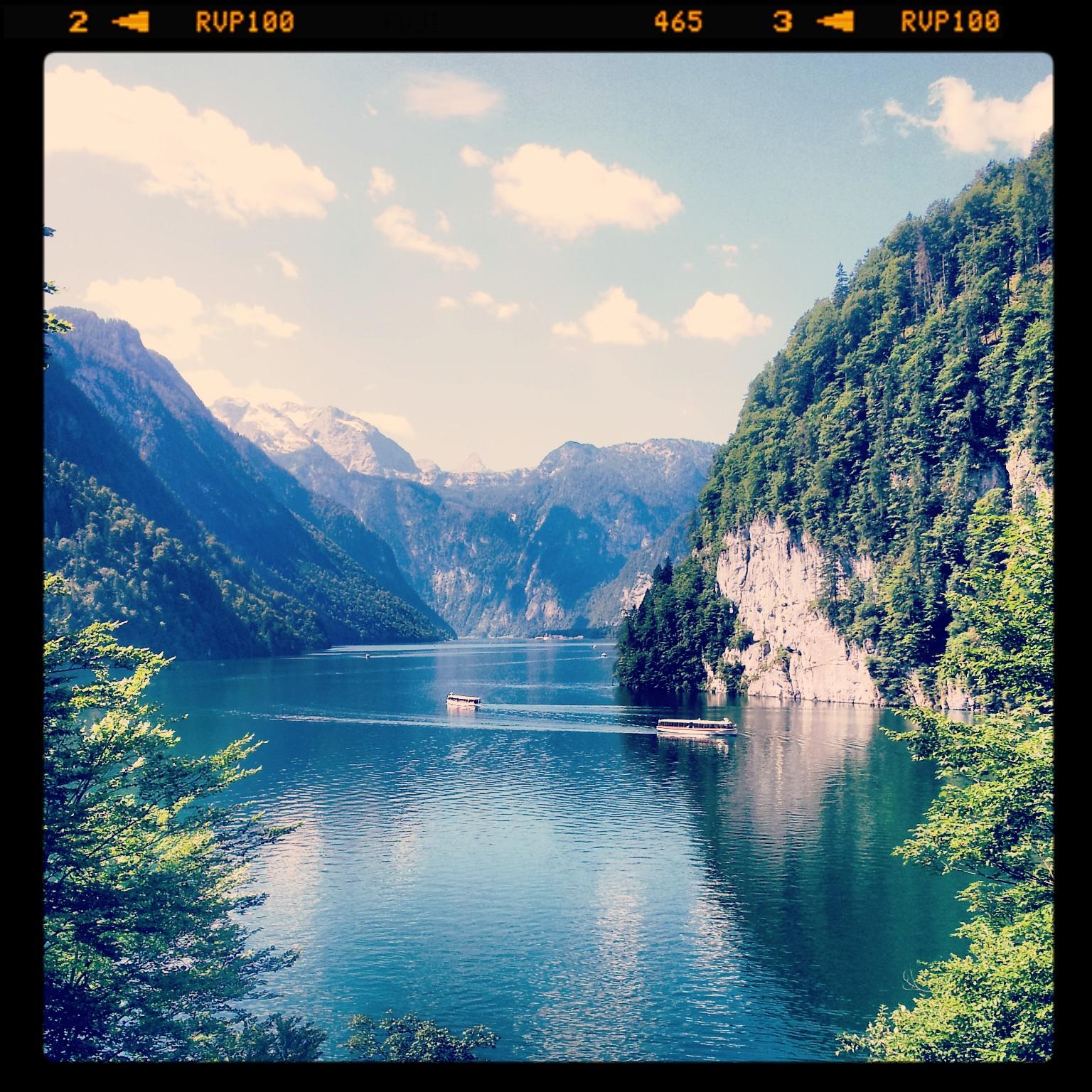 Blick vom Malerwinkel auf den Königssee im Berchtesgadener Land
