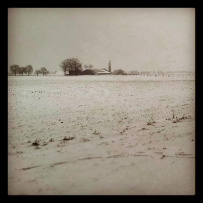 Winterlicher Niederrhein - Ein Geocaching Spaziergang im Schnee